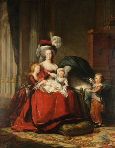 Painting Portrait Doomed Queen Marie Antoinette Children France Canvas Art Print