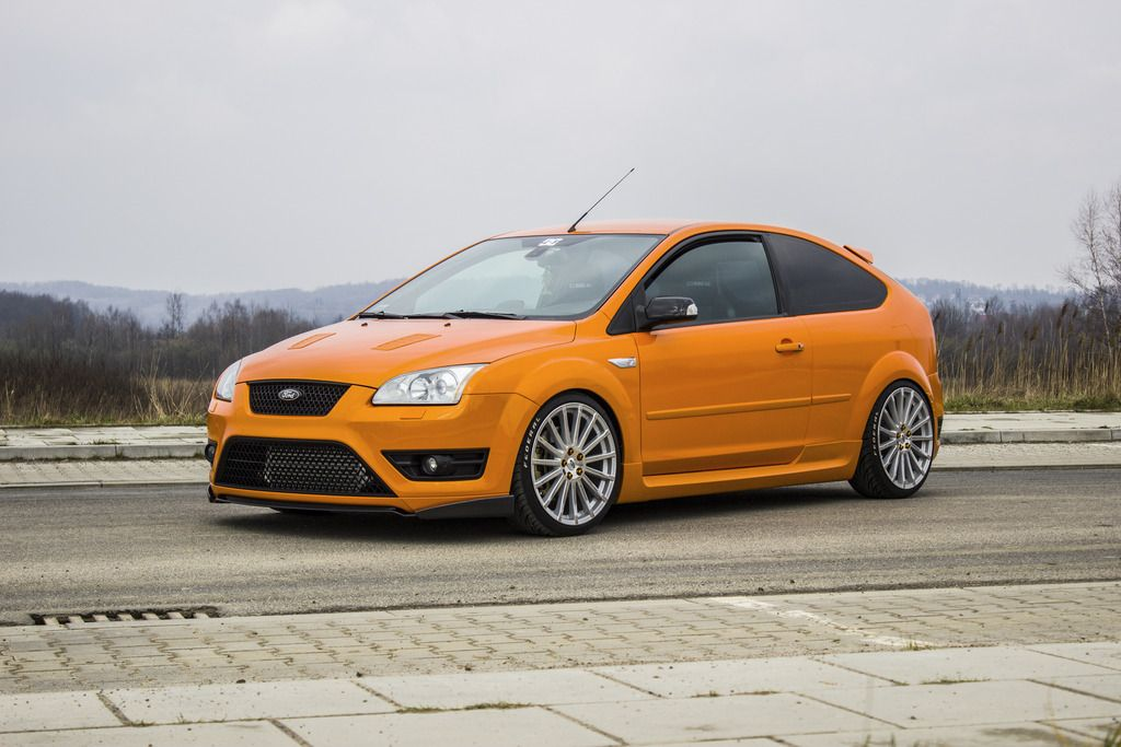 electric orange ford focus st mk2 from poland ford focus. Black Bedroom Furniture Sets. Home Design Ideas