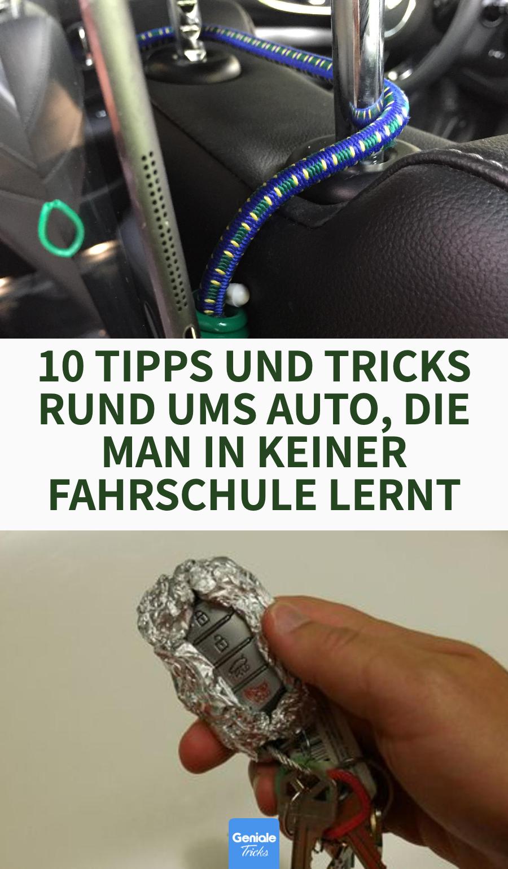 10 Tipps und Tricks rund ums Auto, die man in keiner Fahrschule lernt. #lifehacks #auto #autoschlüssel #Alufolie #führerscheinprüfung #tipps #tricks #haushalt