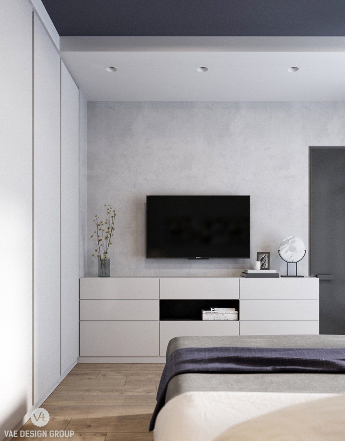 2 Modern Apartments Under 1200 Square Feet Area For Young Families Includes 3d Floor Plans Bedroom Layouts White Wall Bedroom Small Apartment Interior