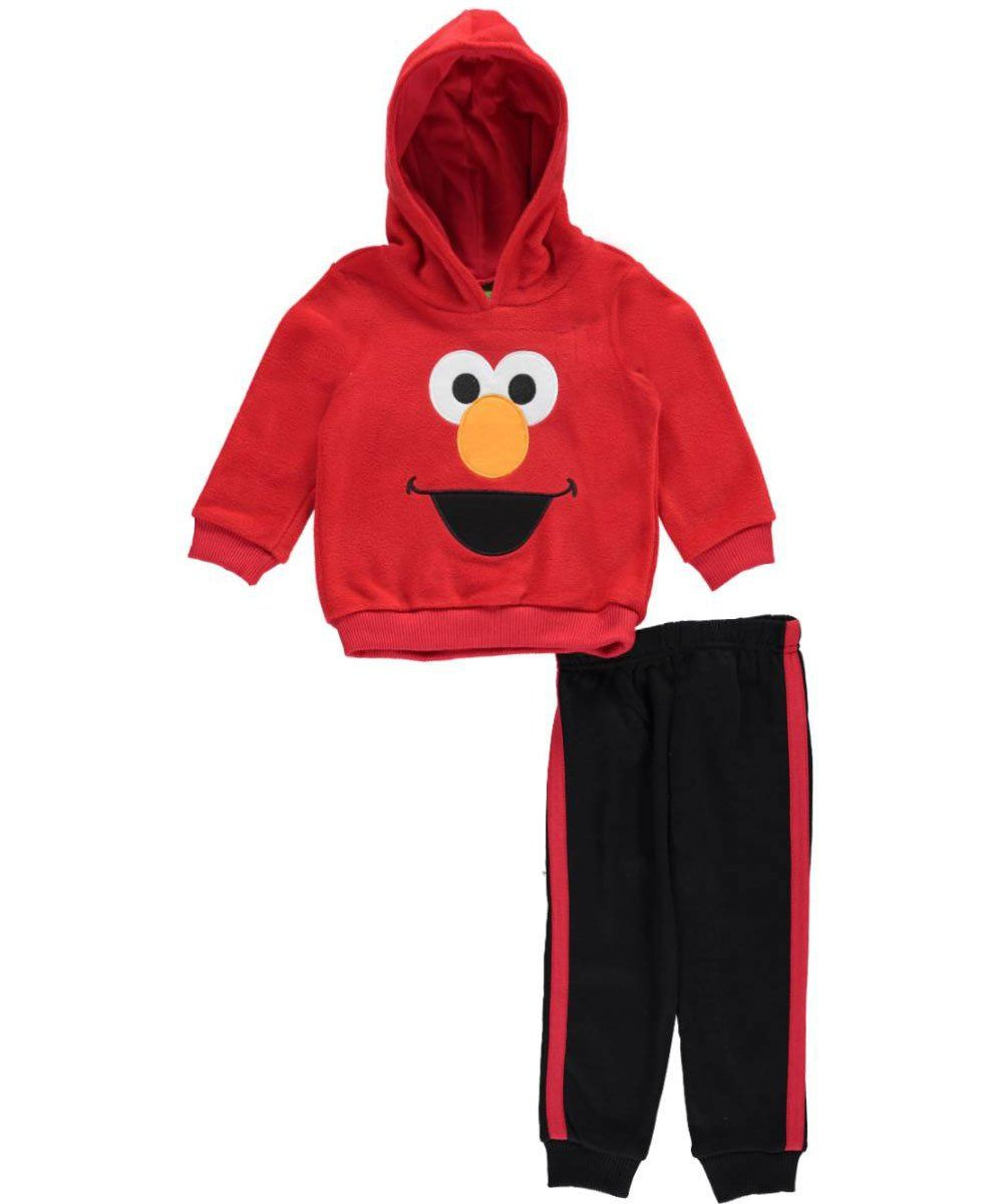 """Sesame Street Baby Boys' """"Happy Elmo"""" 2-Piece Fleece Sweatsuit - red, 12 months -- Awesome products selected by Anna Churchill"""