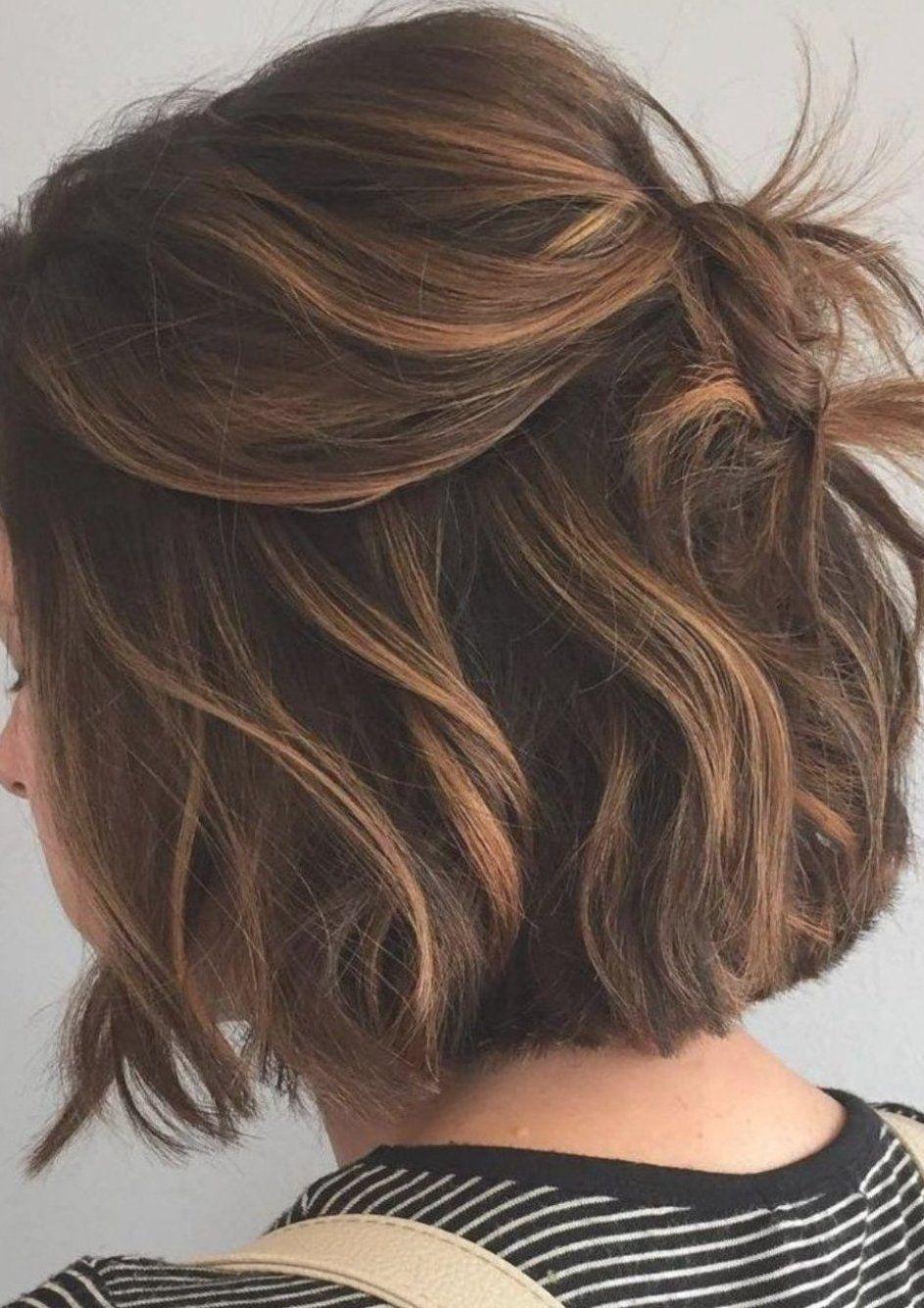 28 Incredible Examples Of Caramel Balayage On Short Dark Brown Hair Car In 2020 Dark Hair With Highlights Brown Hair With Highlights And Lowlights Short Hair Balayage
