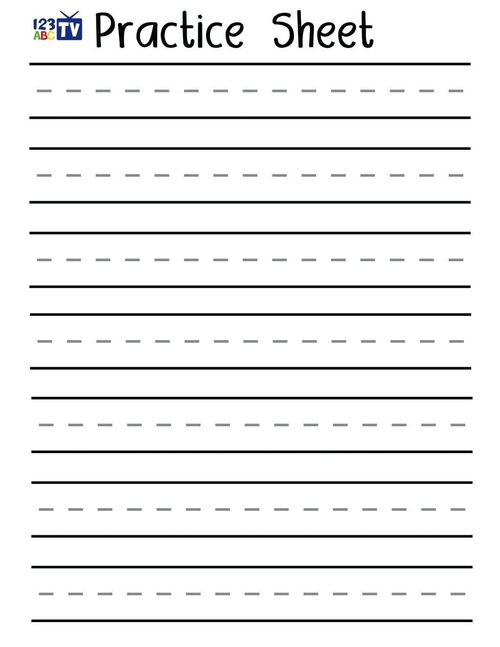 Blank Handwriting Worksheets For Kindergarten Worksheet For Kindergarten Handwriting Worksheets Writing Practice Worksheets Free Handwriting Worksheets Writing name exercises for kindergarten
