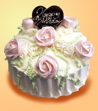 Awe Inspiring Girlfriend Rose Birthday Cakebeautiful Cakecake Pastryfood With Personalised Birthday Cards Cominlily Jamesorg