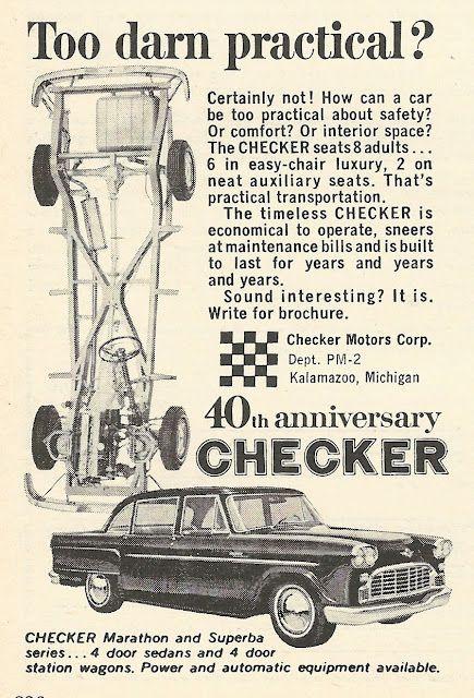 Checker Marathon : checker, marathon, Checker, Marathon, Superba, Series, Checker,, Automobile, Companies,