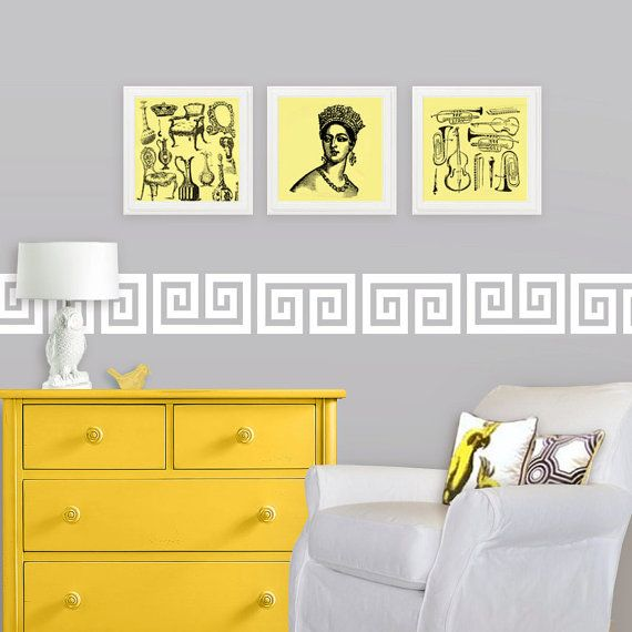 Nursery Wall Decal Border - Greek Key Border - Hollywood Regency ...