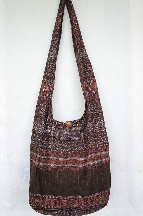 319d6302b9e7c6 YAAMSTORE thai northern art graphic brown hobo bag by yaamstore, $11.99