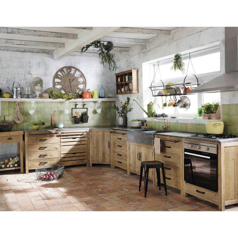 Isla central de pino reciclado An. 145 | Pinterest | Cocina de pino ...