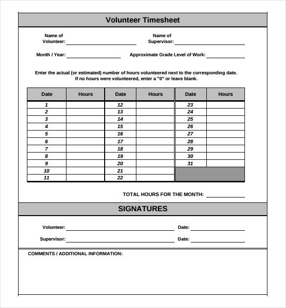 Pin by Chantal Daugherty on Classroom Management Pinterest - volunteer timesheet template