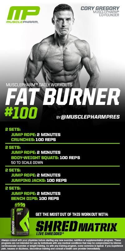 20 Hiit Weight Loss Workouts That Will Shrink Belly Fat: Musclepharm Workout