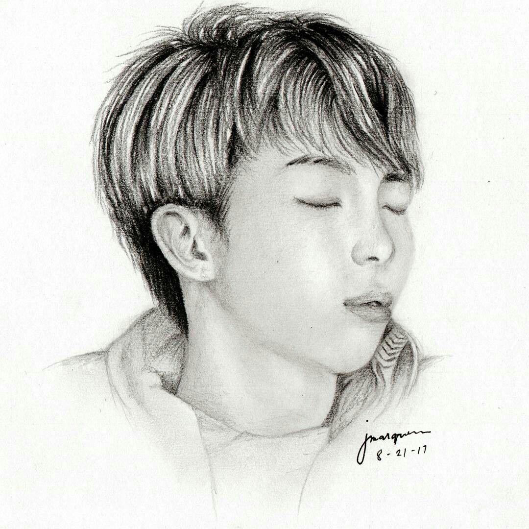Kim Namjoon Love Yourself Fanart Pencil Drawing Bts 방탄소년단