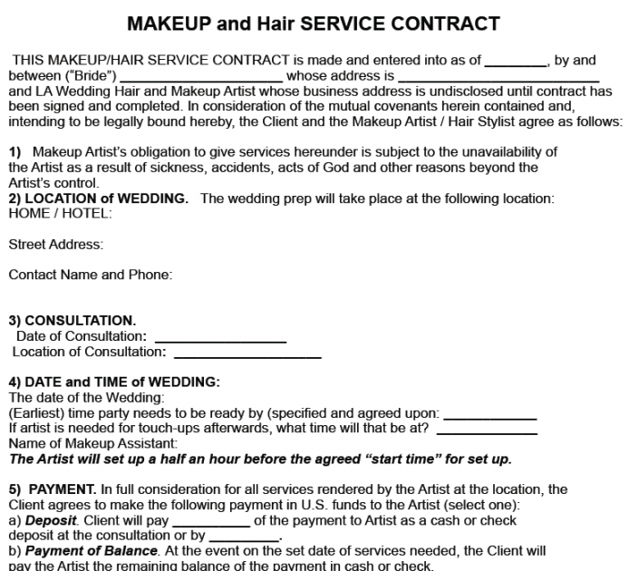 Best Of Hair Stylist Bridal Hair Contract in 2020 (With