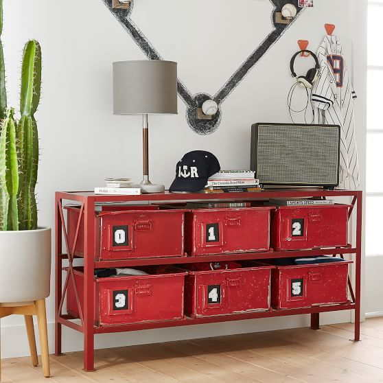 Rockwell 6-Drawer Bookcase | Painted bookshelves, Metal ...