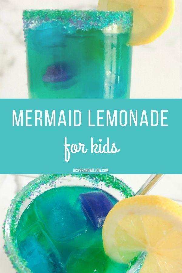 How to Make Magical Mermaid Lemonade - Easy Colorful Mocktail