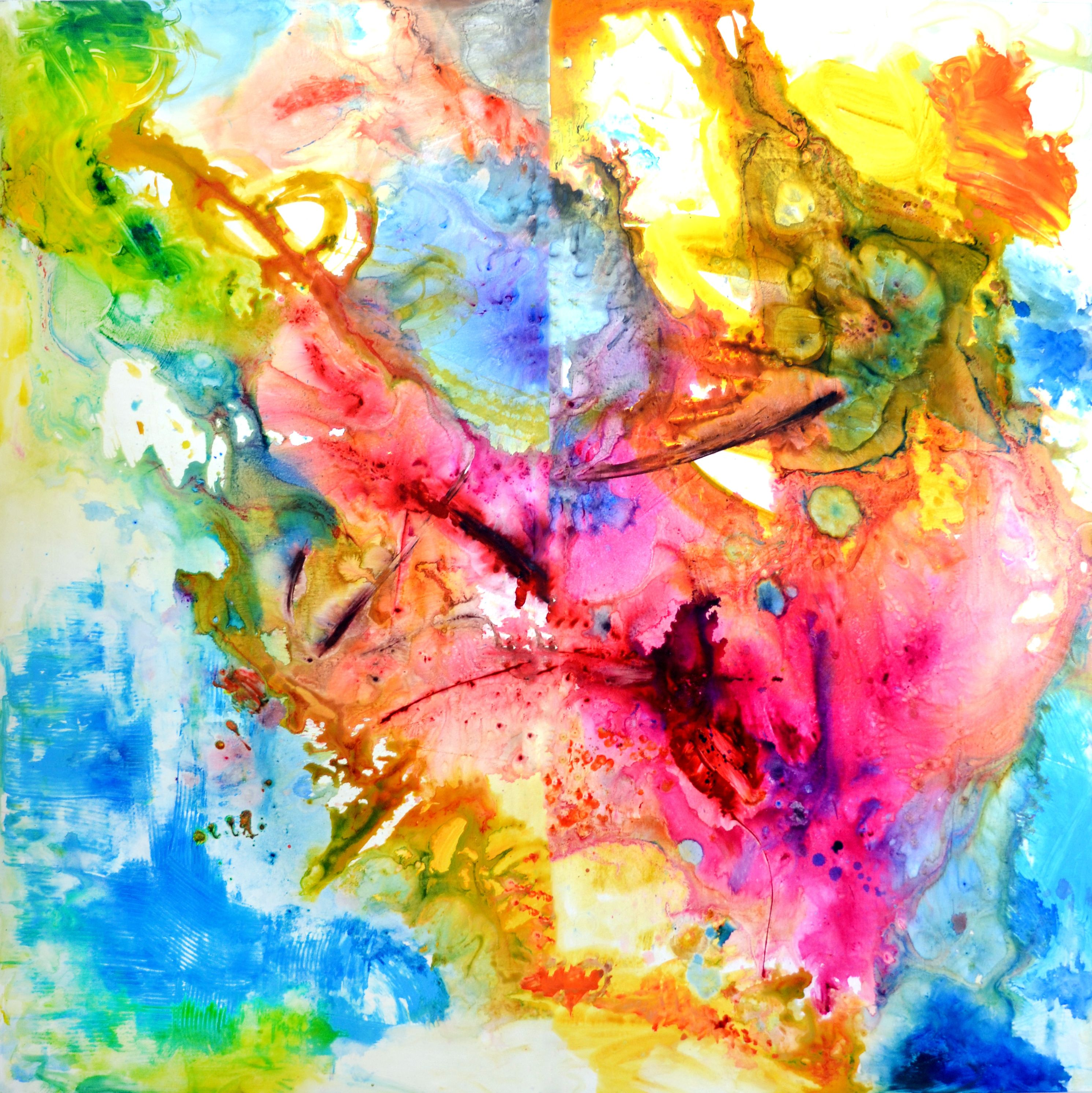 Abstract paintings and abstract art title happiness for Buy modern art prints