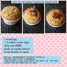 Nutella Baked Oats • 3 syns | Slimming world | Pinterest ...
