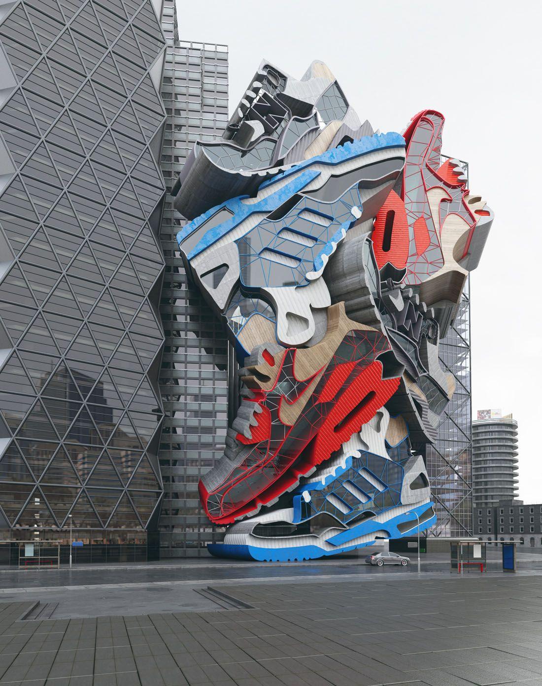Sneaker Tectonics Skulpturen, Sammlung, Bilder, Erstaunliche Architektur,  Moderne Architektur, Installationen In