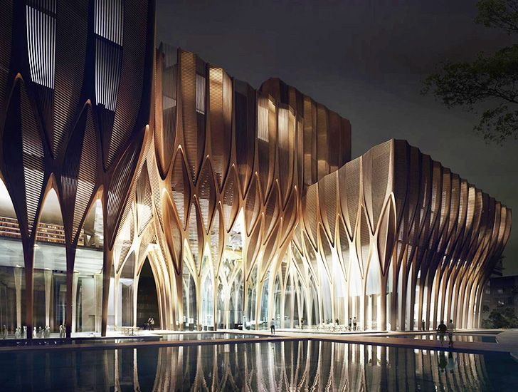 Zaha Hadid's Sleuk Rith Institute Sprouts like a Forest in Cambodia -  Zaha Hadid Architects unveiled the design for the new Sleuk Rith Institute in Cambodia.  - #Architects #Architecture #ArchitectureOffice #Arquitetura #Cambodia #ChineseArchitecture #companyHistory #DanielLibeskind #Facades #Forest #FrankGehry #FuturisticArchitecture #Hadids #Historyarchitecture #Historycriativos #Historylayout #Historymap #Historymuseum #Historypainting #Historysubject #HouseArchitecture #Institute #LeCorbus