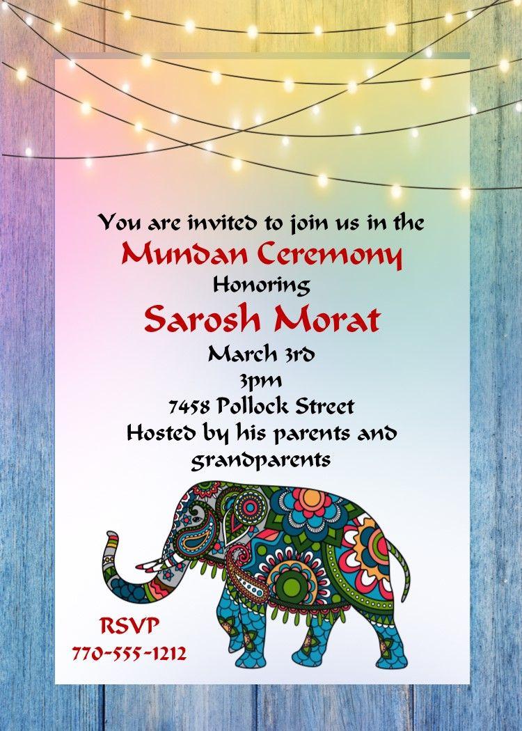 mundan celebration party invitations Invitations, Party