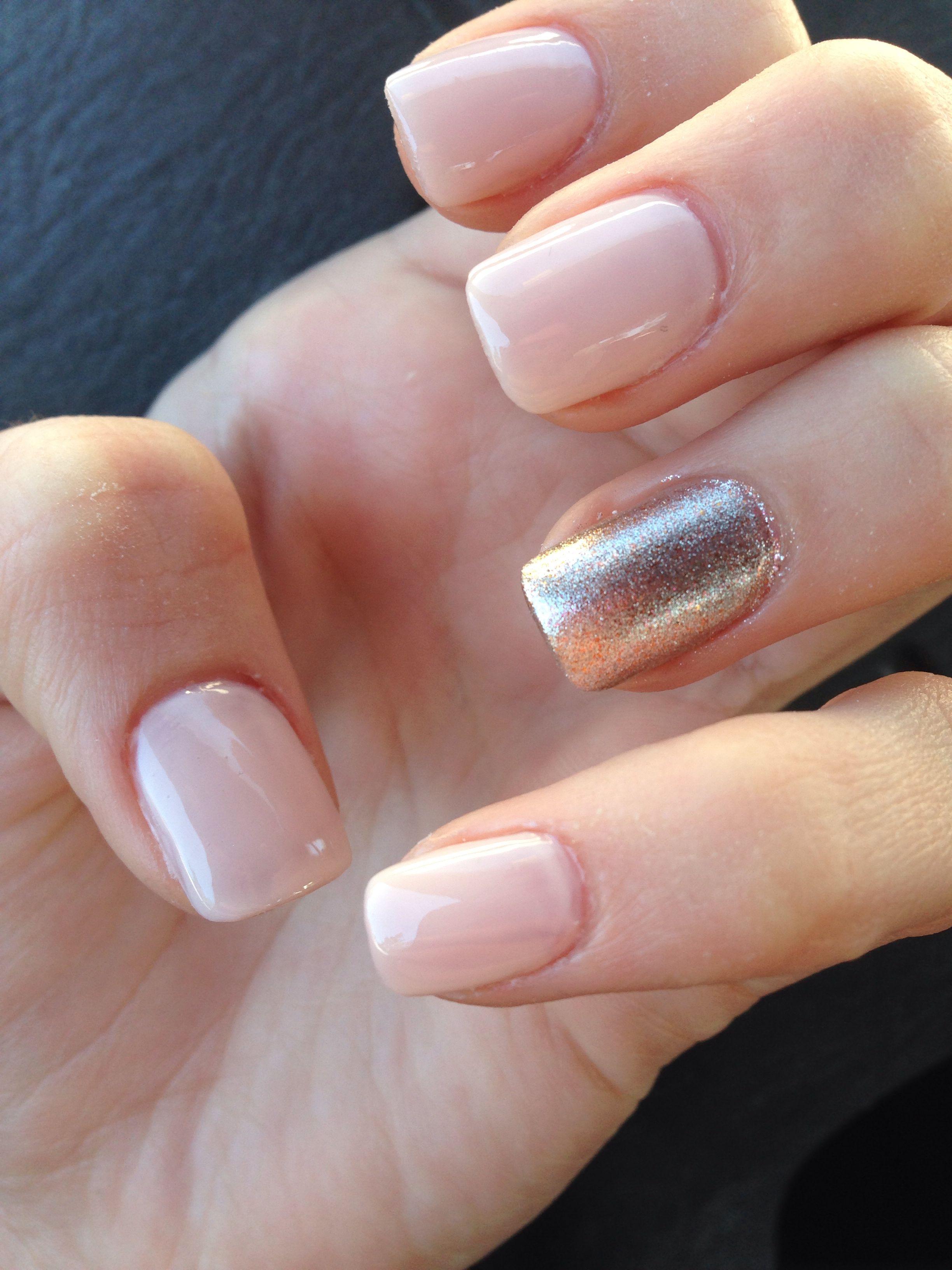 Nude nails / rose gold nails | Nails | Pinterest