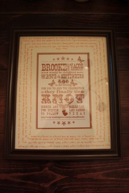 Love killer bs idea of framing her wedding invitation and writing love killer bs idea of framing her wedding invitation and writing the lyrics for their wedding song on the matte also she was inspired by a similar one stopboris Image collections