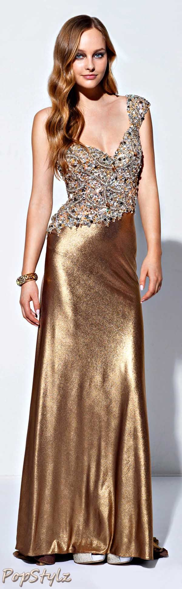 Terani Couture Silky Gold Gown | golden garments III | Pinterest ...