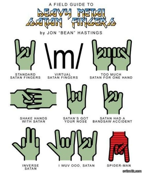 Heavy Metal Hand Metal Meme Heavy Metal Musical Band