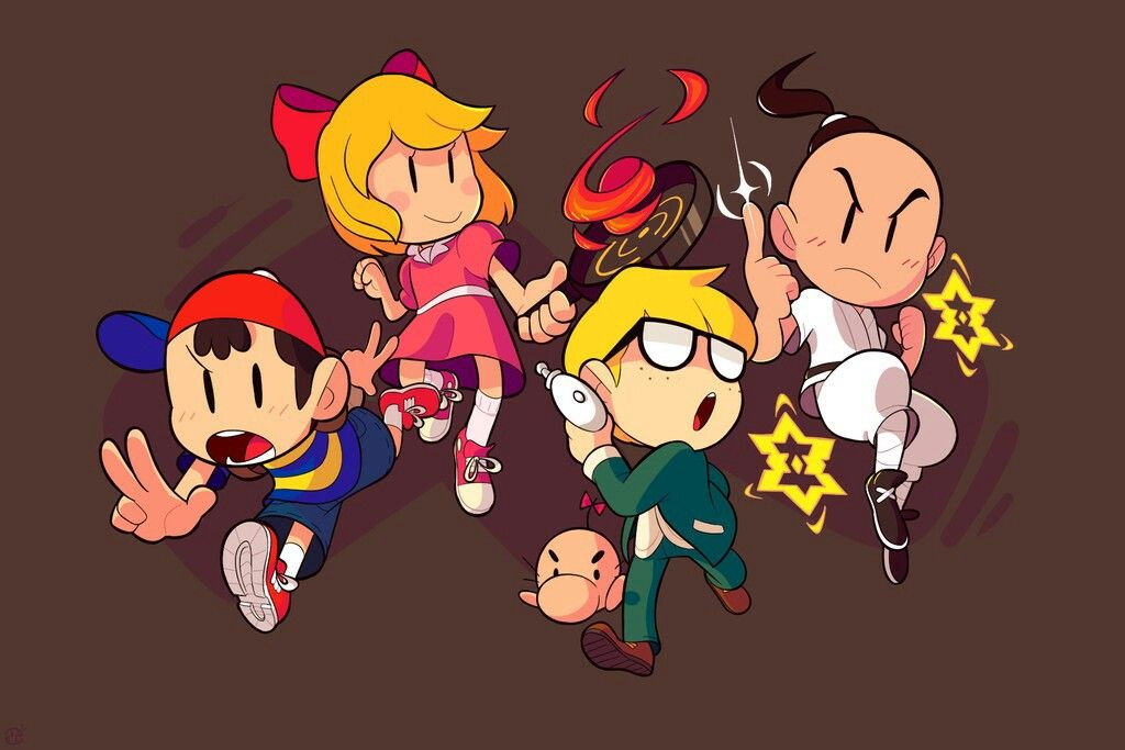 ness paula jeff poo | Earthbound forever! | Mother games