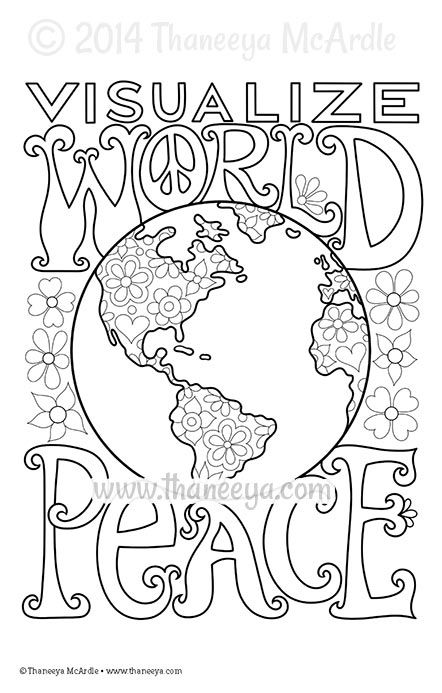 Visualize World Peace Coloring Page by Thaneeya McArdle