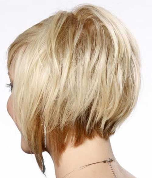 15 Layered Bob Back View Bob Haircut And Hairstyle Ideas Concave Bob Hairstyles Short Straight Hair Short Hair Styles