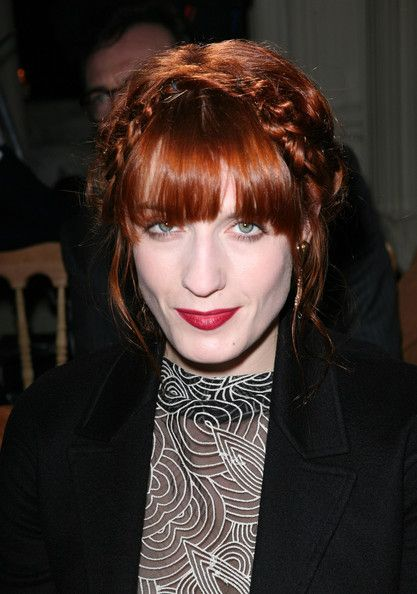 florence welch / red hair & red lips