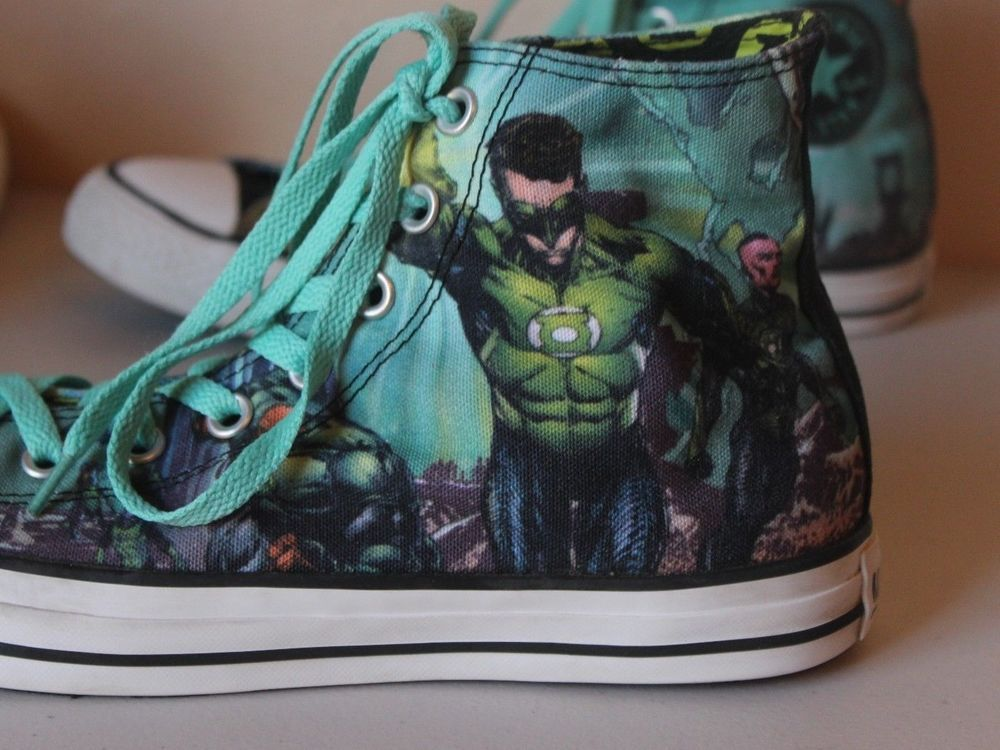 8b8b47bc6e68 Converse All Star Chuck Taylor Batman Green Lantern DC Comics High Tops  Men s 9  ConverseChuckTaylor  FashionSneakers