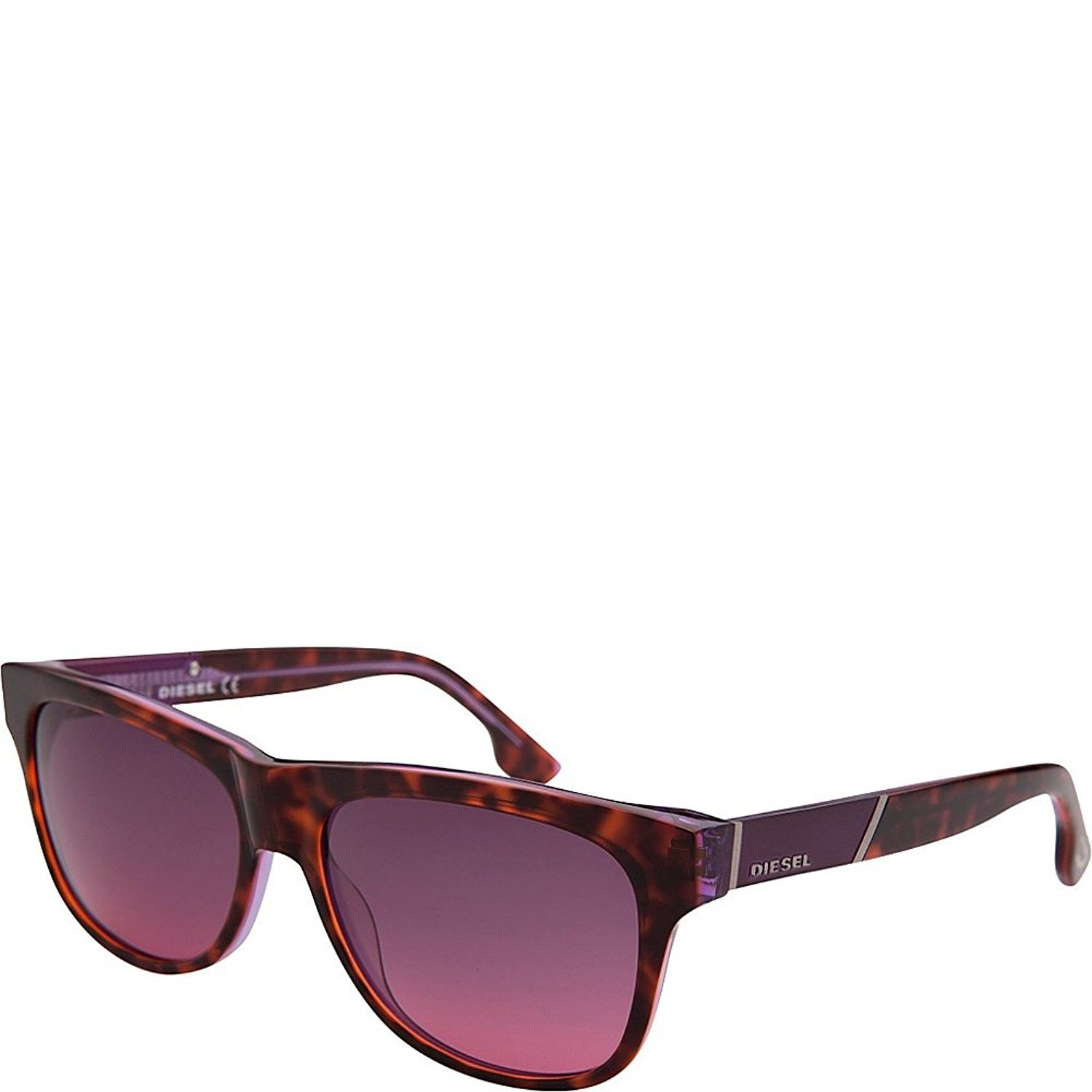 24483f4902 Unisex DL0085 55B Square Sunglasses Tortoise Purple 57mm - CS11GA6CWK5 -  Men s Sunglasses