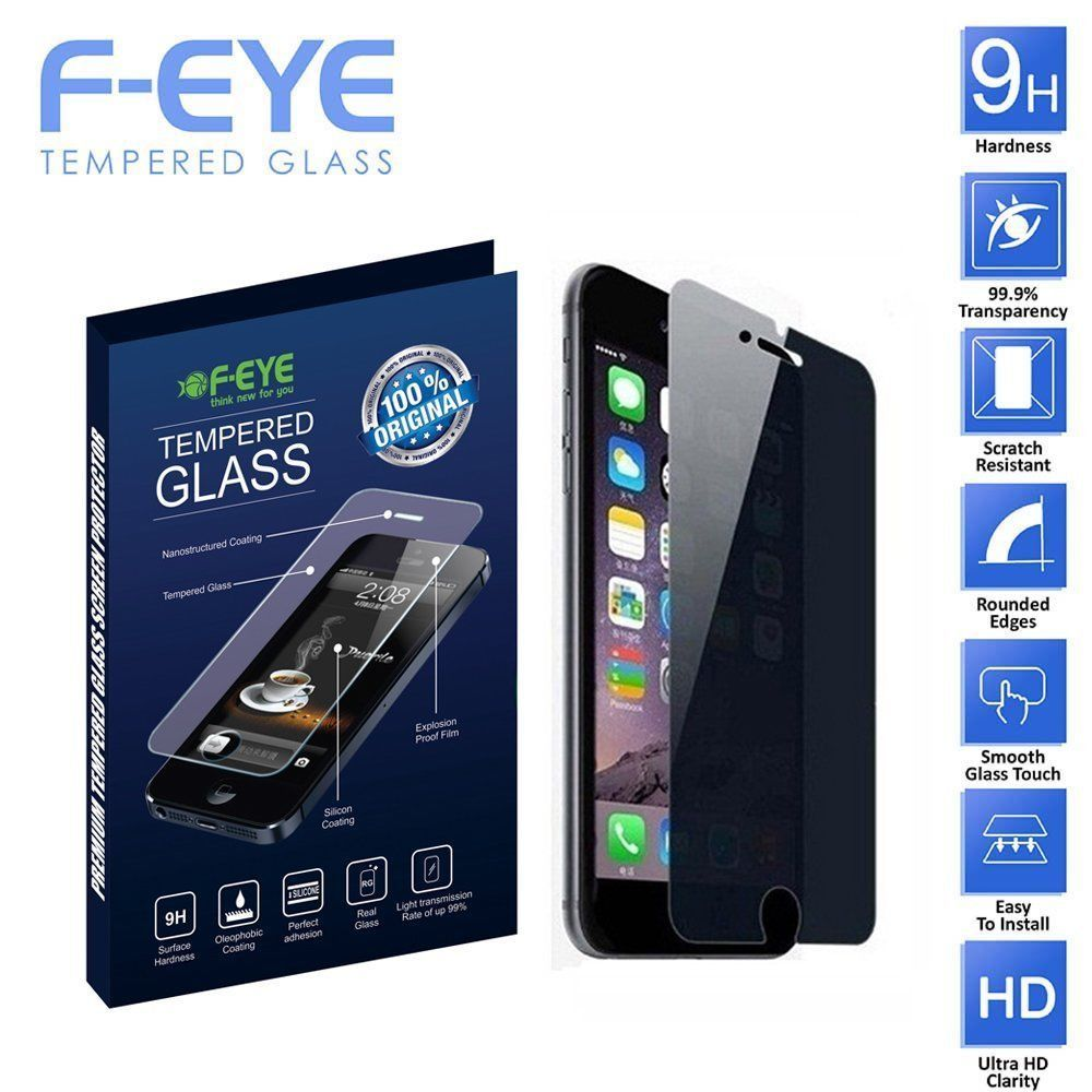 Feye privacy tempered glass screen protector for iphone