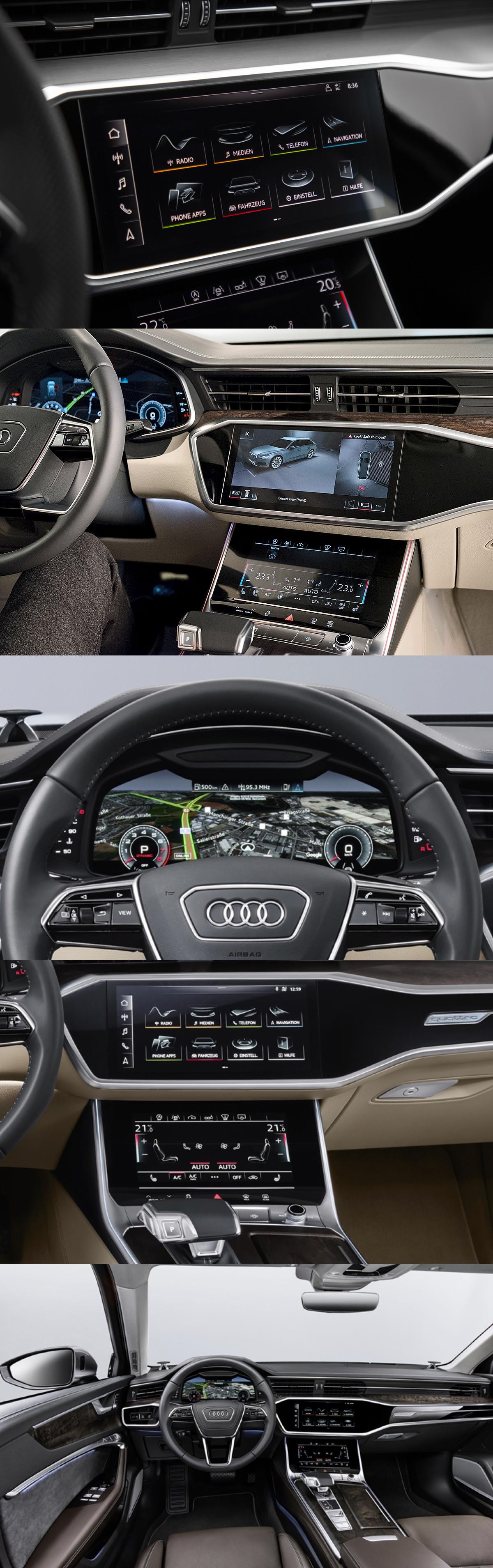 Icons Dashboard Icons Hmi Ivi Infotainment Audi A6 2018