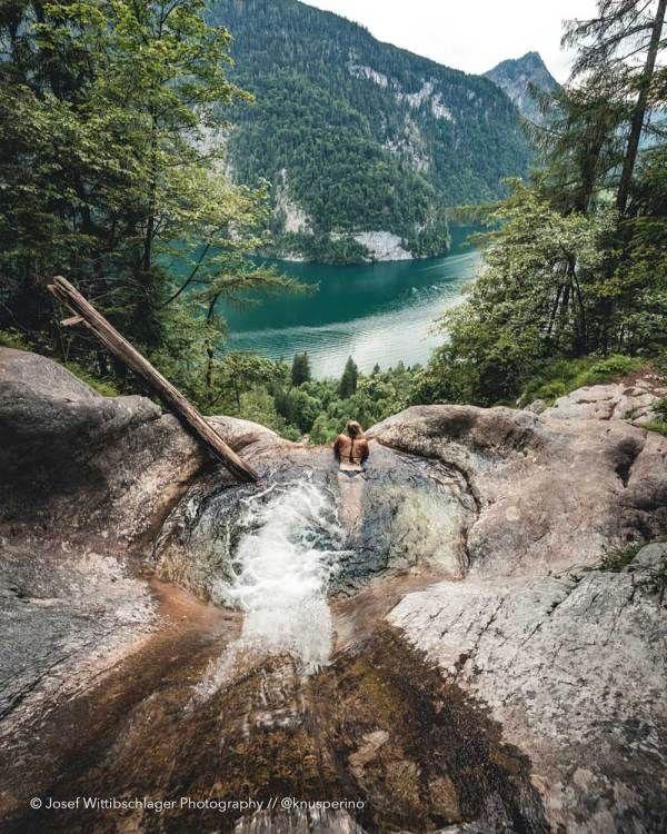 Wanderung zum berühmten Naturpool am Königssee