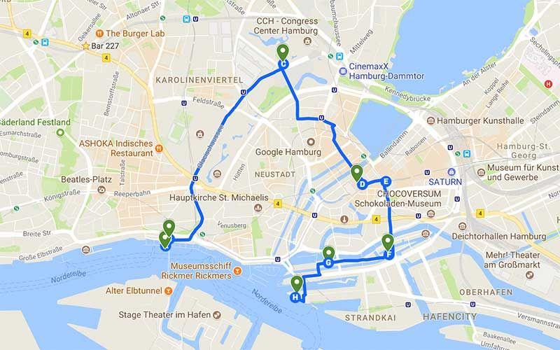 Hamburg Spazierroute