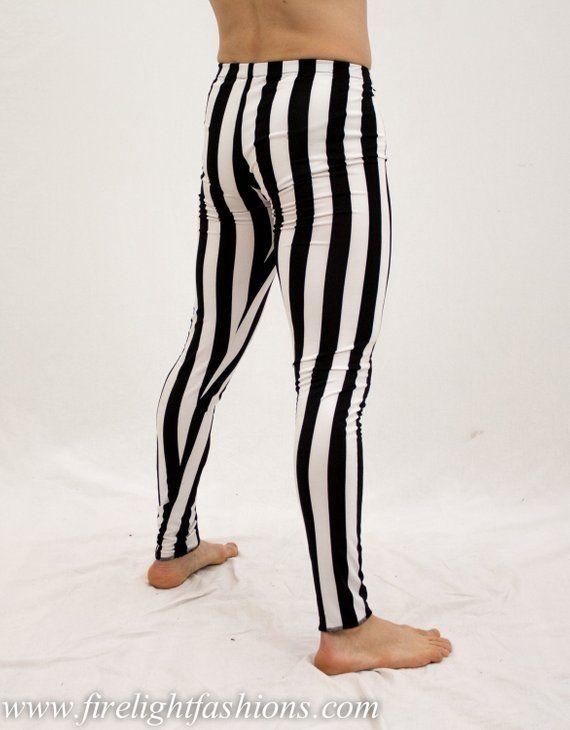 7d258e3822 mens leggings | stripe tights | black and white pants | dance wear ...