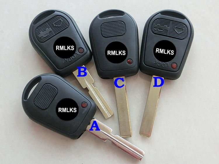 Rmlks 2 3 Button Uncut Blade Car Key Replacement Remote Key Case
