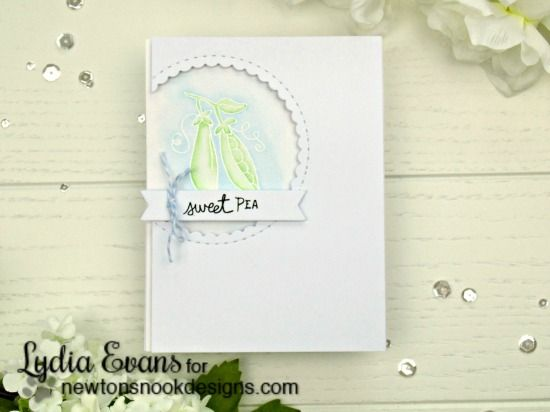 Sweet Pea Card by Lydia Evans | Vegetable Garden stamp set by Newton's Nook Designs #newtonsnook