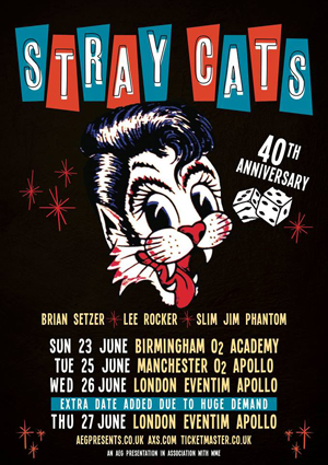 Live Review Stray Cats, The London 2019