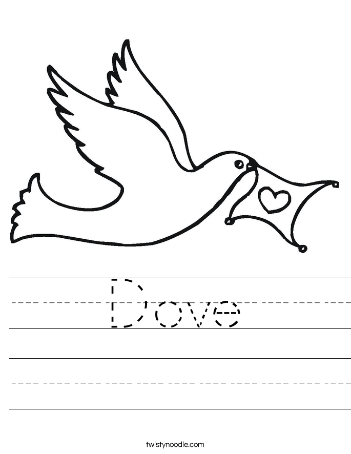 Dove Worksheet | Worksheets, Peace education, World peace day