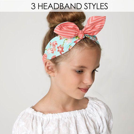 Retro headband pattern pdf hairband by MyChildhoodTreasures 170cab552df