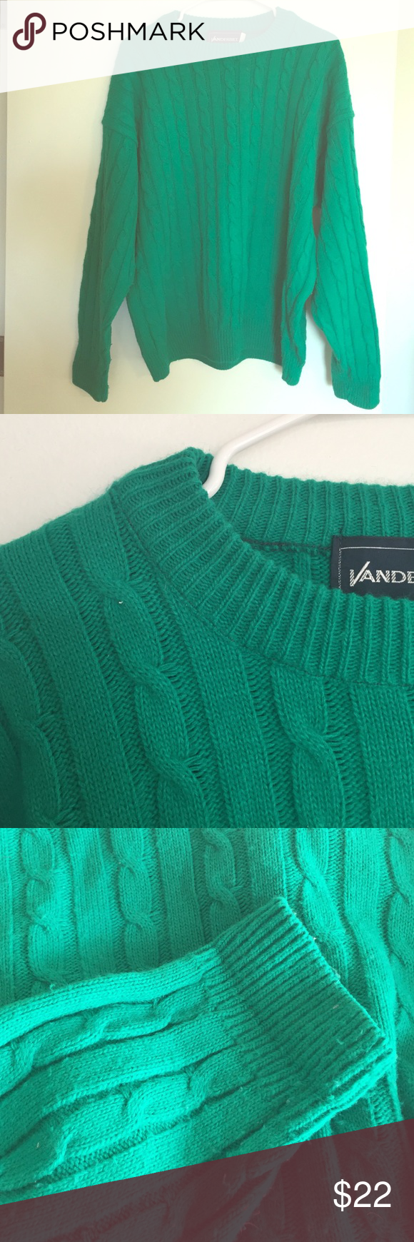 Royal Green Cable Knit Sweater | Royal green, Baggy sweaters and ...