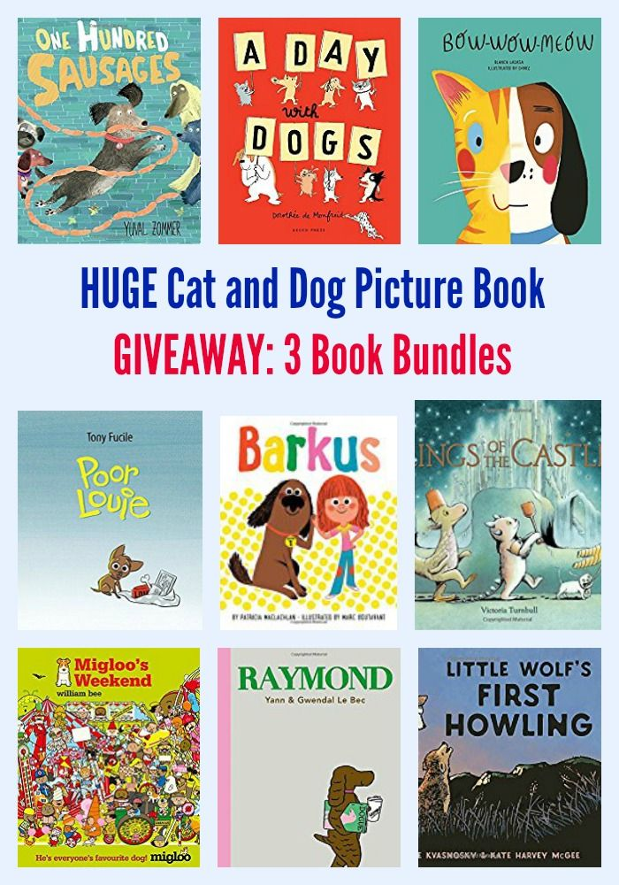 Huge Cat And Dog Picture Book Giveaway 3 Book Bundles Dog Cat