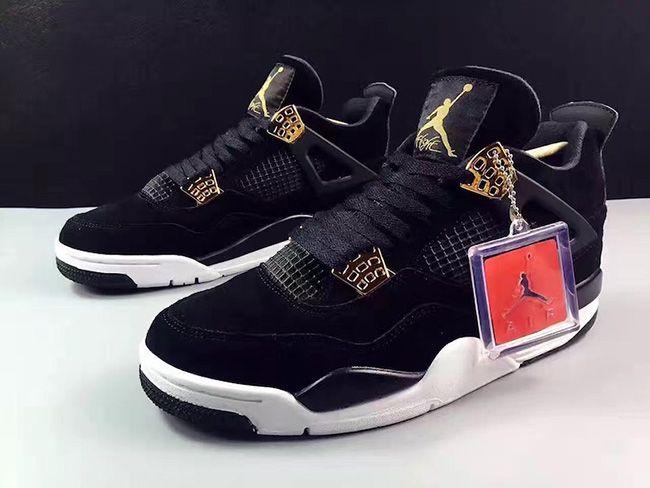 Air Jordan 4 Royalty Release Date. The Air Jordan 4 Royalty in Black,  Metallic