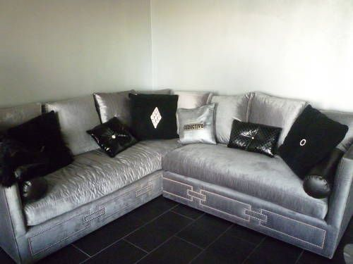 Delicieux Grey Velvet Sectional Sofa | Silver VELVET SECTIONAL U2013 $3,200 | Style  Assembly