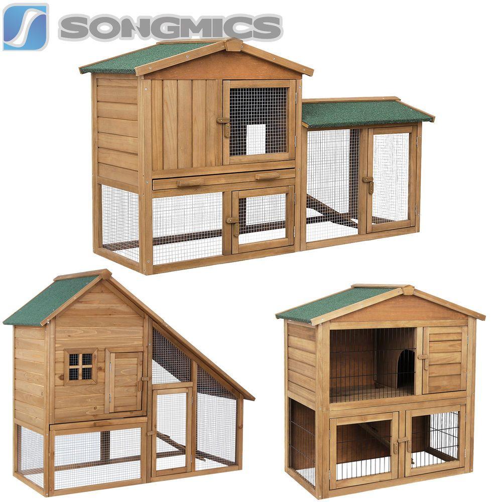 xxl cage pour lapin clapier lapin cochon d 39 inde bois. Black Bedroom Furniture Sets. Home Design Ideas