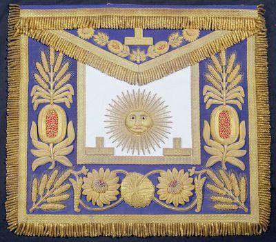 Masonic apron of HRH The Duke of Windsor, 1930s (embroidered lambskin)