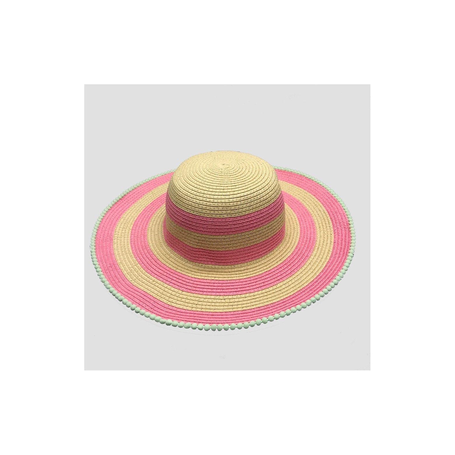 Girls  Pom Floppy Hat - Cat   Jack™ Pink One Size  43bcb8fcd03